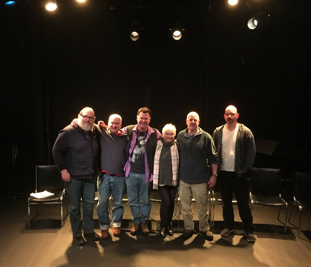Six featured playwrights at this year's festival are (from left) Thomas Spurr, Eddie Adelman, Kevin O'Leary, Danie Connolly, David Susman and Travis G. Baker.