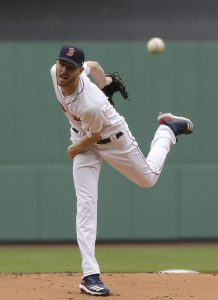 b03471d816c Boston Red Sox's Chris Sale delivers a pitch against the Tampa Bay Rays  during the first inning of a baseball game at Fenway Park, Sunday, April  28, 2019, ...