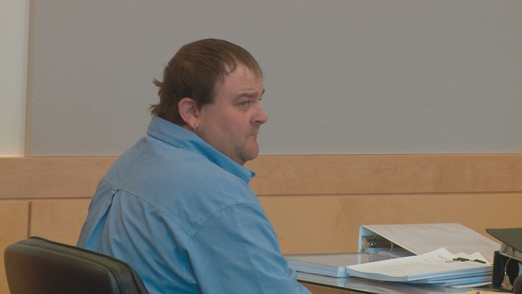 Jessee Mackin of Millinocket is charged with manslaughter in the death of his girlfriend's 6-month-old son. His trial started Tuesday in Bangor.