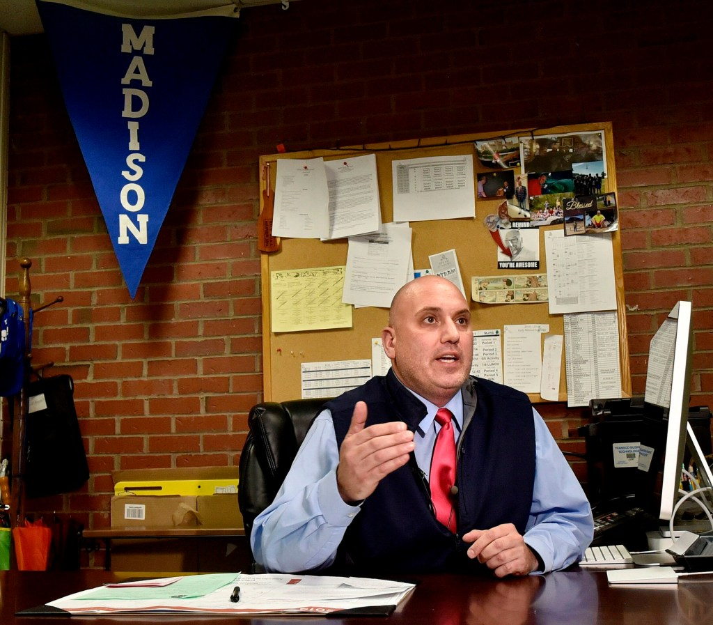 Madison Junior High School Principal Ryan Arnold talked Wednesday about how the school district is dealing with a student's recent case of measles.