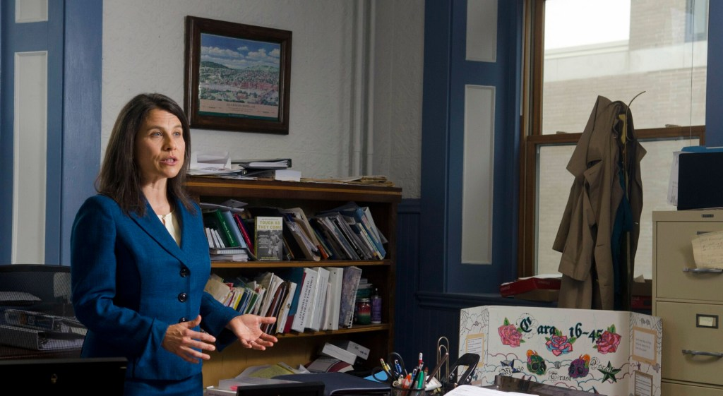 Maeghan Maloney, district attorney of Kennebec and Somerset counties, in her office Oct. 11 in Augusta.