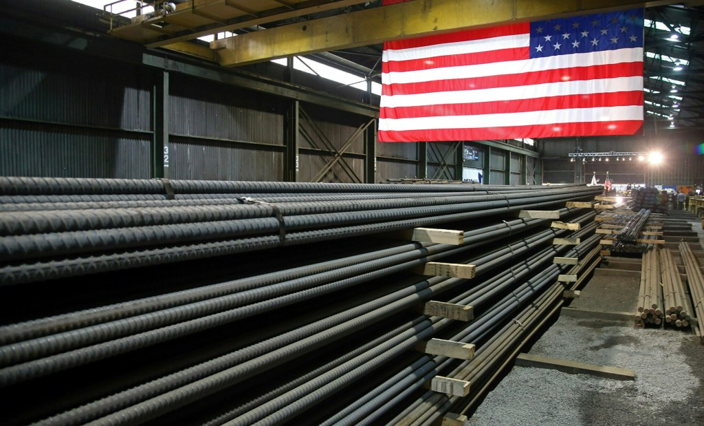 Steel rods produced at the Gerdau Ameristeel mill in St. Paul, Minn. await shipment this month.