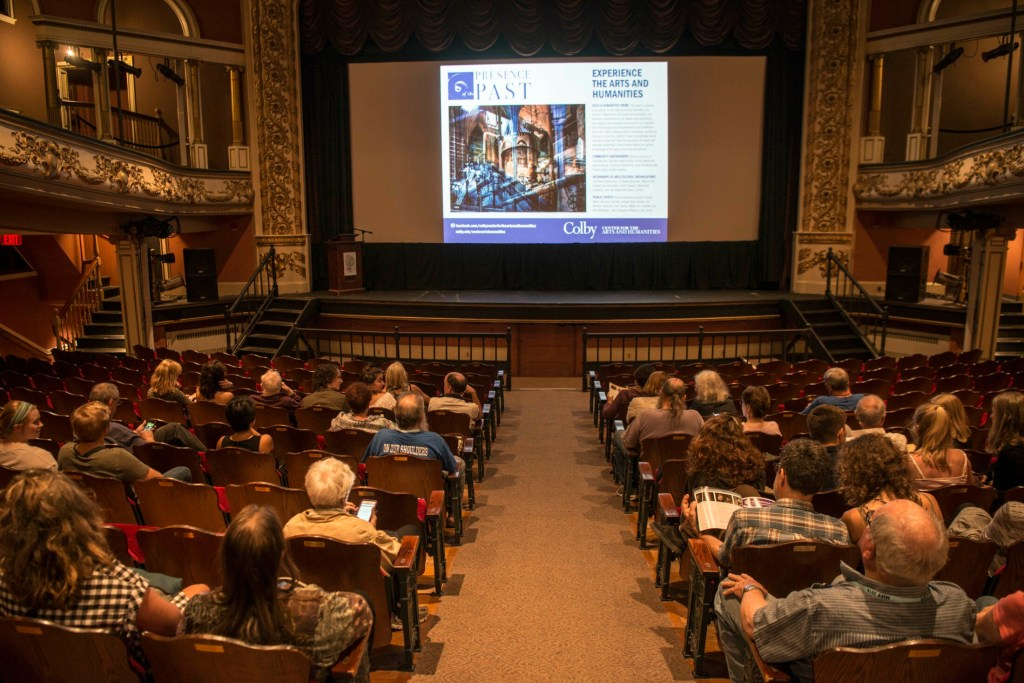 People take their seats as the Maine Shorts Program begins at the Waterville Opera House during the Maine International Film Festival at the Waterville Opera House on July 14, 2018.