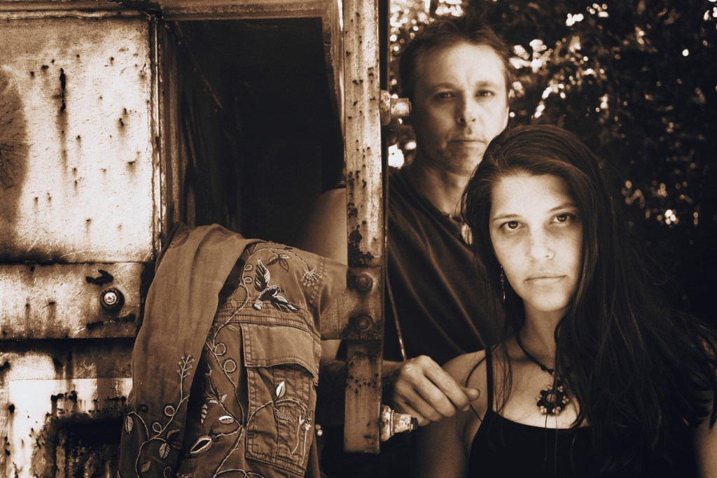 Ryan Flaherty, left, and Erika Stahl of the band Muddy Ruckus.