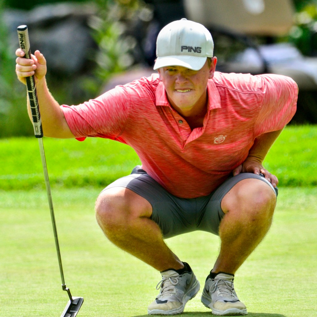 Jack Wyman, of South Freeport, plays during final round of Charlie's Maine Open last year at the Augusta Country Club in Manchester. He was the low scoring amateur player.