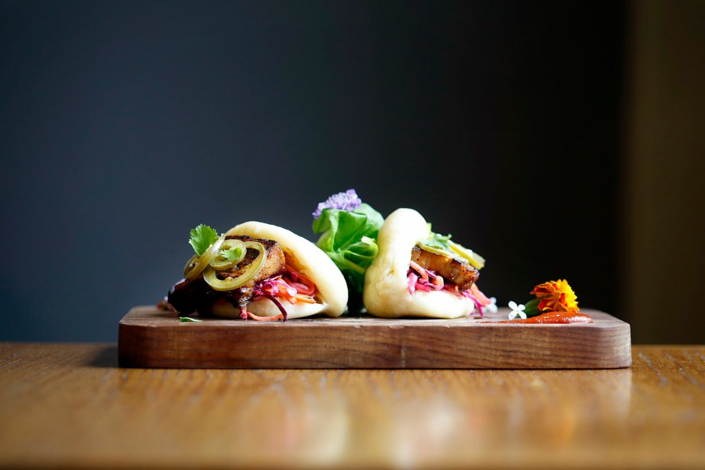 """The wrapper is the weak link. Otherwise, the pork belly steamed buns at Odd Duck FSE make for """"a lovely, fiery appetizer,"""" according to our critic."""
