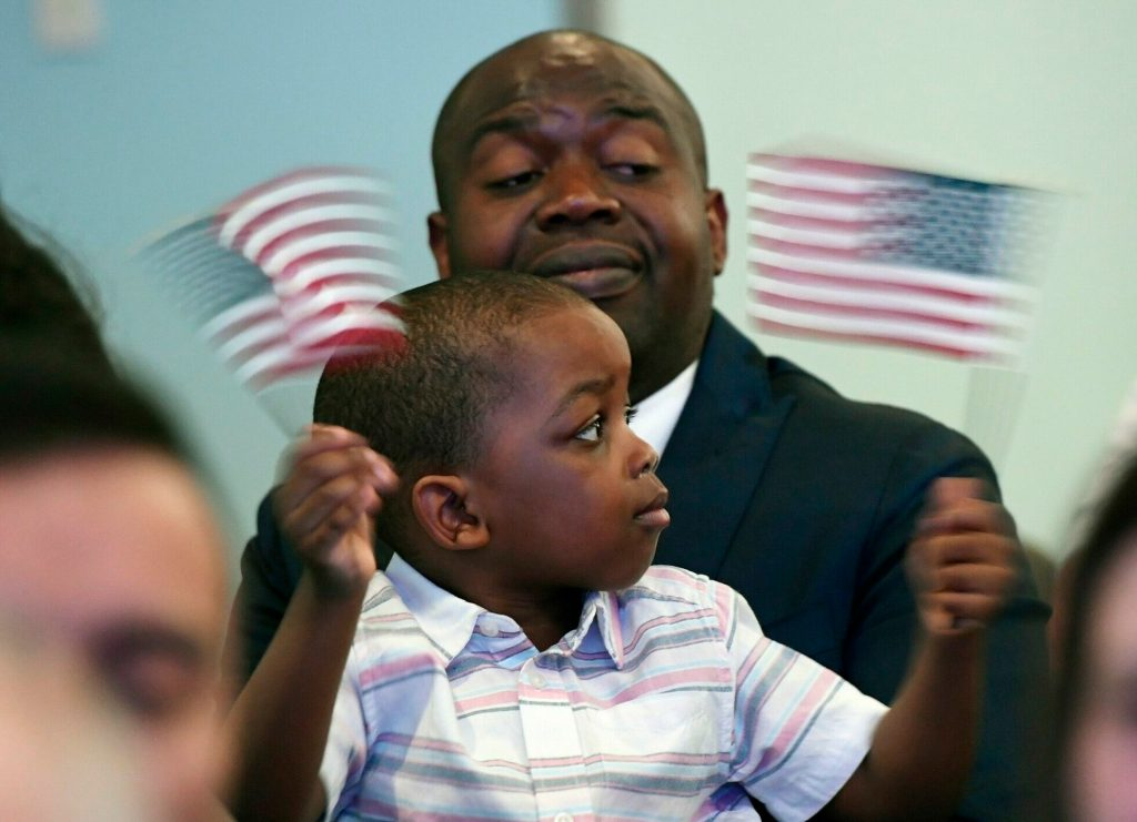 Dozens of Mainers from around the world become U S  citizens