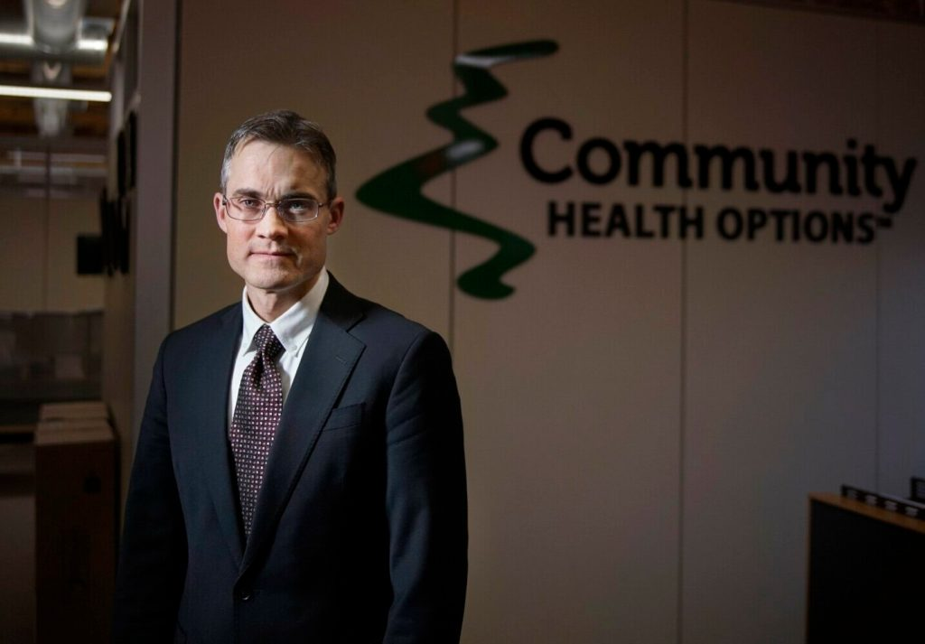 Kevin Lewis, CEO of Community Health Options. His company, one of three providing insurance under the Affordable Care Act, has revised its average premium request from a 7.7 percent increase to a 0.8 percent increase.