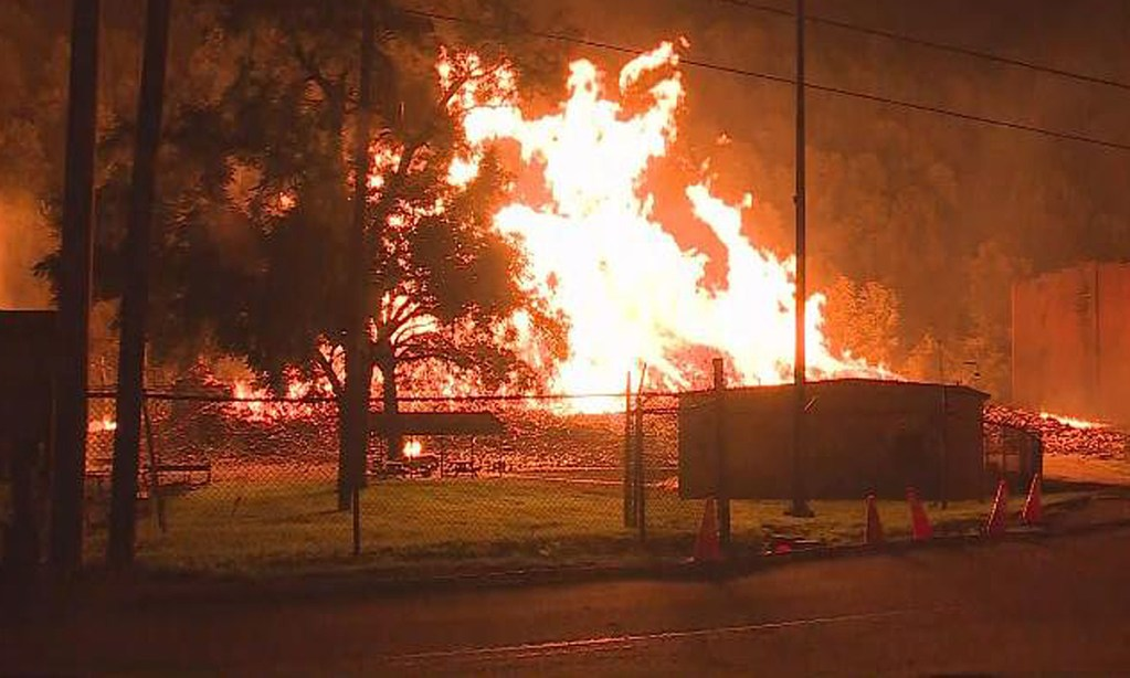 A fire at a Jim Beam warehouse in Kentucky destroyed 45,000 barrels of bourbon Tuesday night.