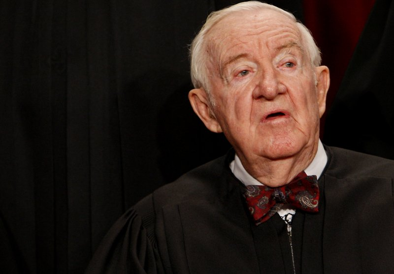 Supreme Court Justice John Paul Stevens, photographed in 2009, retired the following year.
