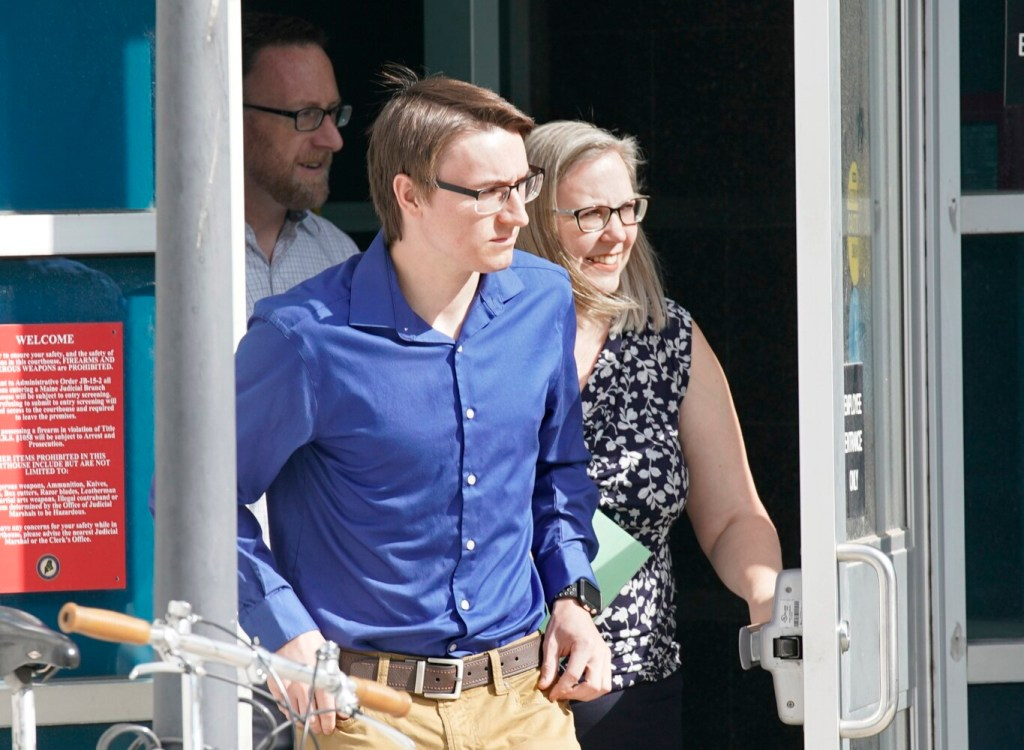 William Blanchard leaves the Cumberland County Courthouse after his arraignment on Thursday.