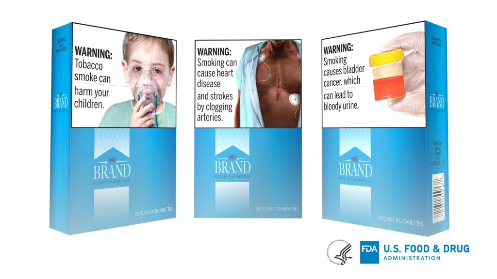 The U.S. Food and Drug Administration has proposed cigarette packaging carrying graphic new health warnings.