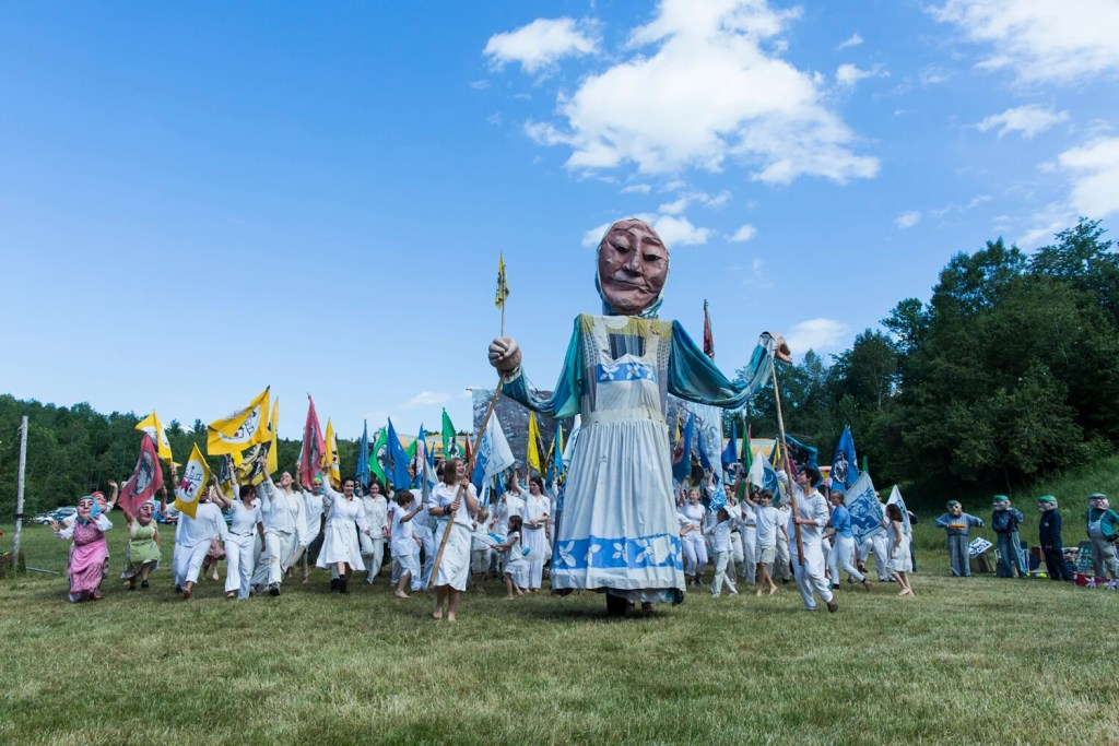 The Bread and Puppet Circus will perform at Fort Allen Park in Portland on Sunday.