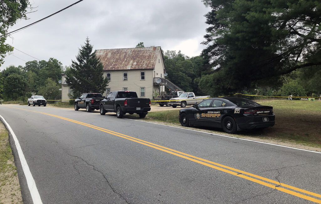 Police say a dispute among neighbors on Denmark Road in Brownfield led to an almost eight-hour standoff Wednesday morning.
