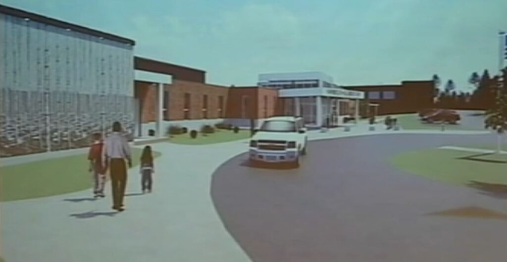 This rendering depicts the planned facade of Yarmouth Elementary School.