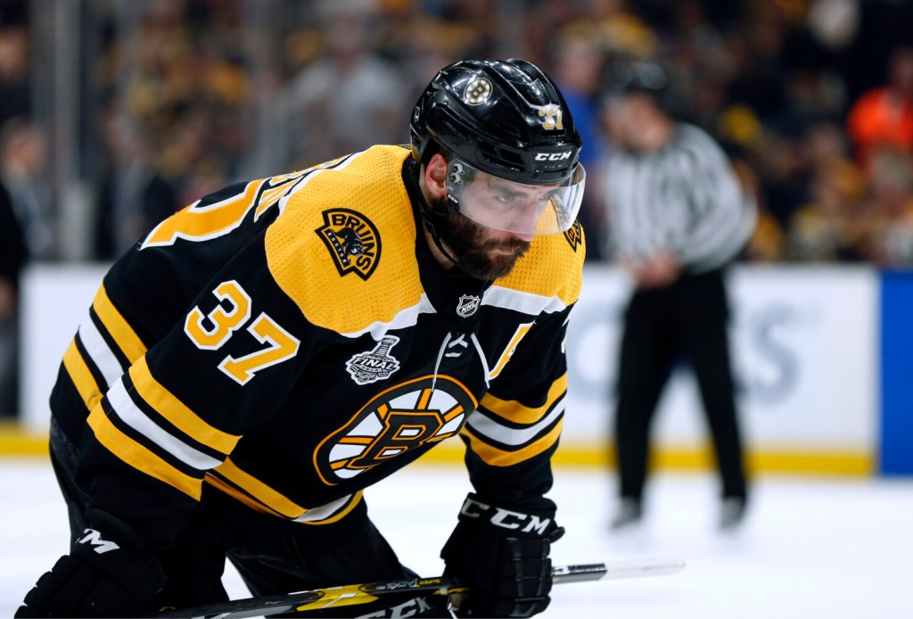 Patrice Bergeron is unsure of his status as the Bruins prepare to report to camp. Bergeron had a platelet-rich plasma inject from a groin injury.