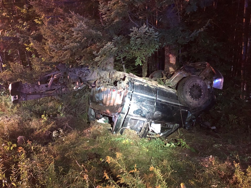 Two people were killed Sunday night after the pickup truck in which they were traveling crashed off Route 32 in Windsor.