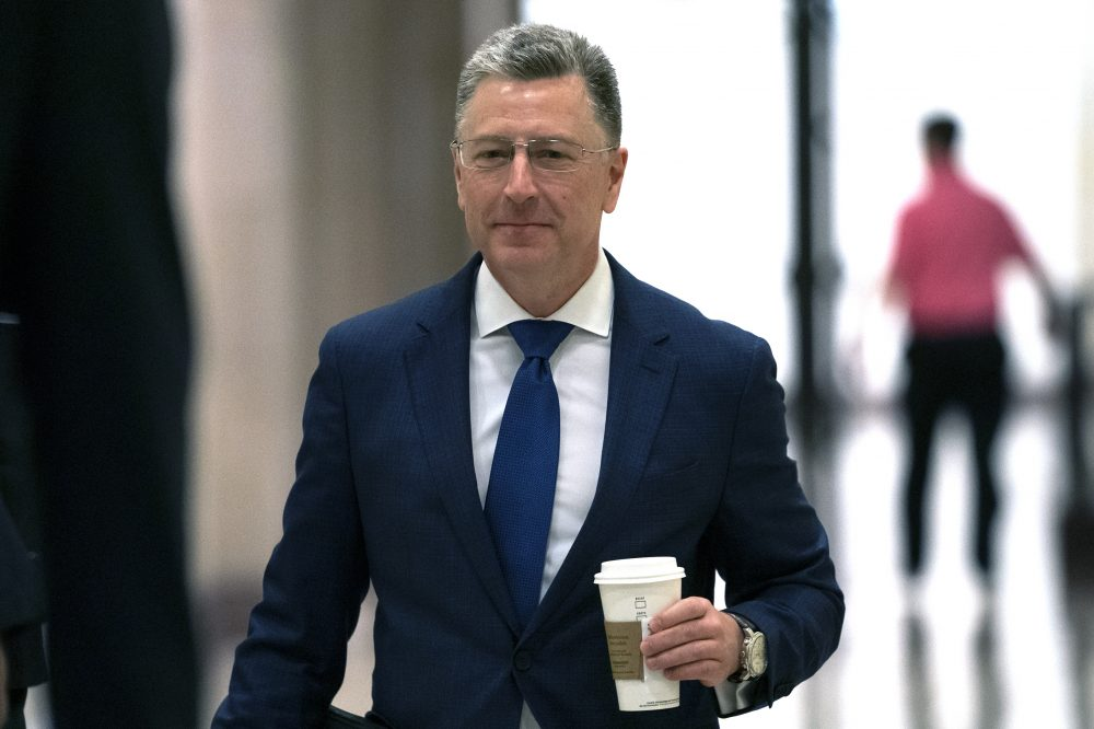 Kurt Volker, a former special envoy to Ukraine, arrives for a closed-door interview with House investigators Thursday as part of the impeachment inquiry of President Trump.