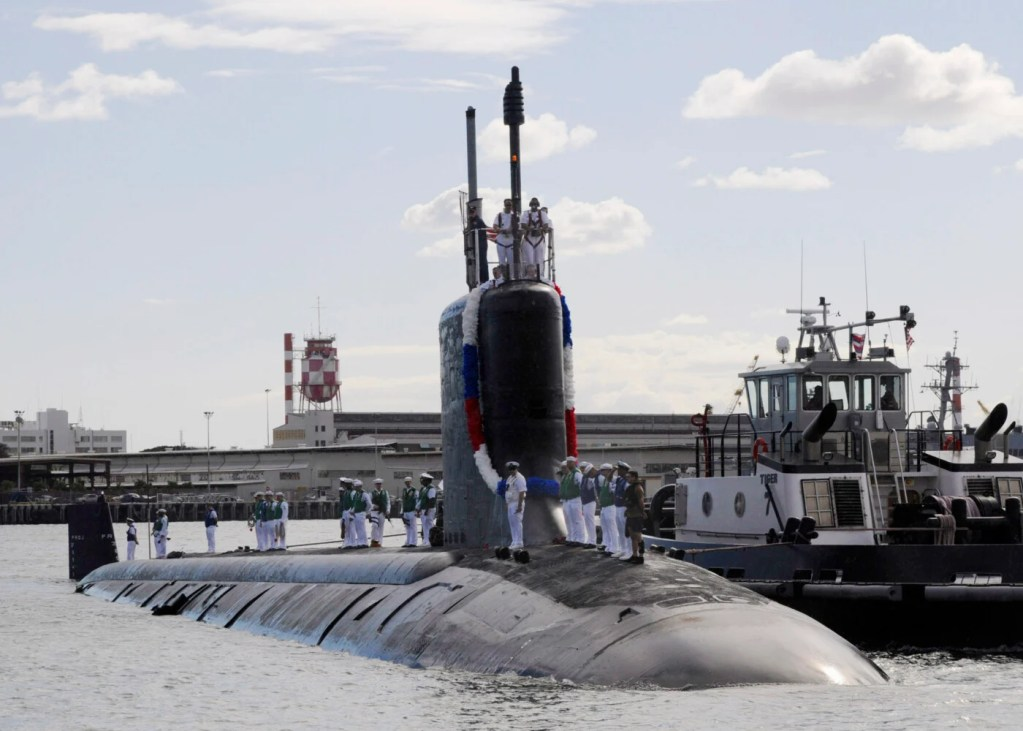 The Virginia-class attack submarine USS Texas is shown in 2010.