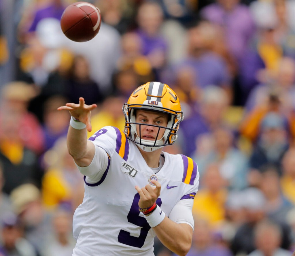 LSU quarterback Joe Burrow (leads the Tigers into Alabama Saturday for a showdown with the Crimson Tide.