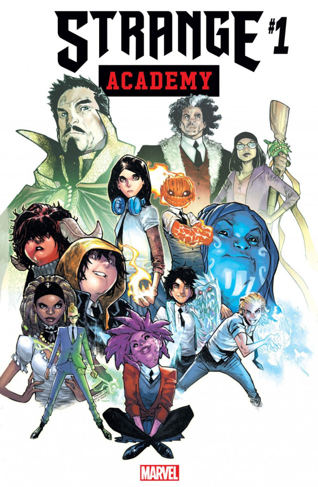"This image released by Marvel shows the cover art for the upcoming ""Strange Academy"" comic book. Marvel announced Thursday that the comic about a New Orleans-based school for young people with mystical powers will debut in March."