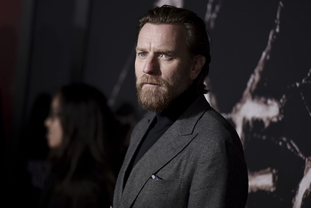 """In this Oct. 29, 2019 file photo, Ewan McGregor attends the LA premiere of """"Doctor Sleep"""" at the Regency Theatre Westwood in Los Angeles."""