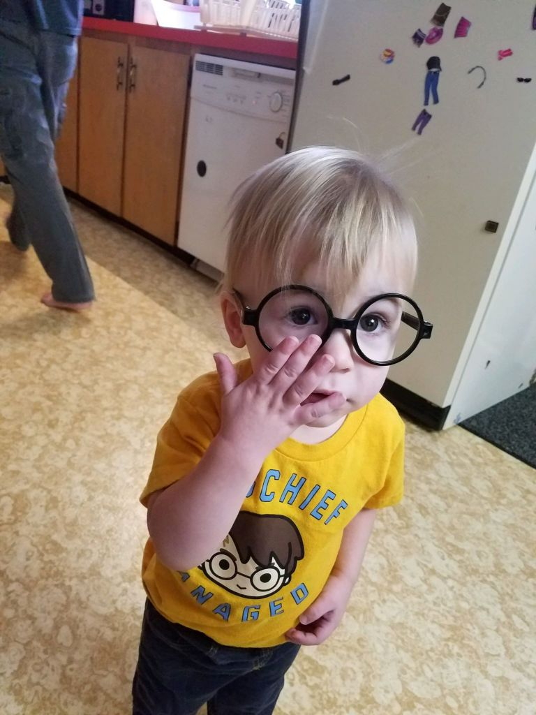 """Neville Campbell, 1 1/2 years old, was named after Neville Longbottom, a character in the """"Harry Potter"""" series."""