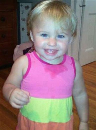 An undated photo obtained from a Facebook page of missing toddler Ayla Reynolds. Ayla was 20 months old when she was reported missing on Dec. 17 from the Waterville home of her father, Justin DiPietro.