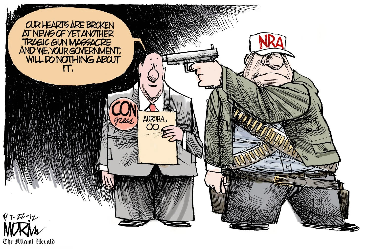 Todays Editorial Cartoon NRA