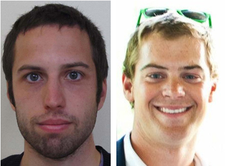 Zachary Wells, left, and Prescott Wright have been missing from Kennebunkport since Wednesday.