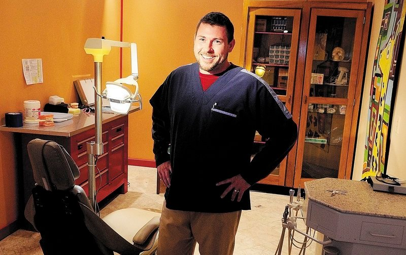 Eric McMaster, a dental hygienist, owns a practice called Healthy Smiles on Water Street in downtown Gardiner.