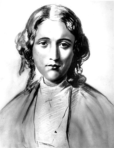 """Harriet Beecher Stowe is shown in this undated drawing. A professor of American literature at Clemson University in Clemson, S.C., Susanna Ashton, says her research indicates Stowe harbored a fugitive slave from South Carolina just before she started writing her novel """"Uncle Tom's Cabin."""" Ashton says John Andrew Jackson shared his painful experiences of slavery prompting Stowe to write the novel. The first chapter appeared in the """"National Era,"""" an anti-slavery-weekly, of Washington, on June 5, 1851. It appeared later in book and as a play."""