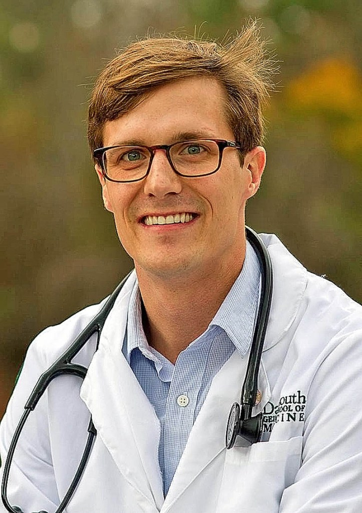 Tyler Giberson, 26, is a medical student at Dartmouth College and was recently recognized by the American Heart Association for research on cardiac arrest.