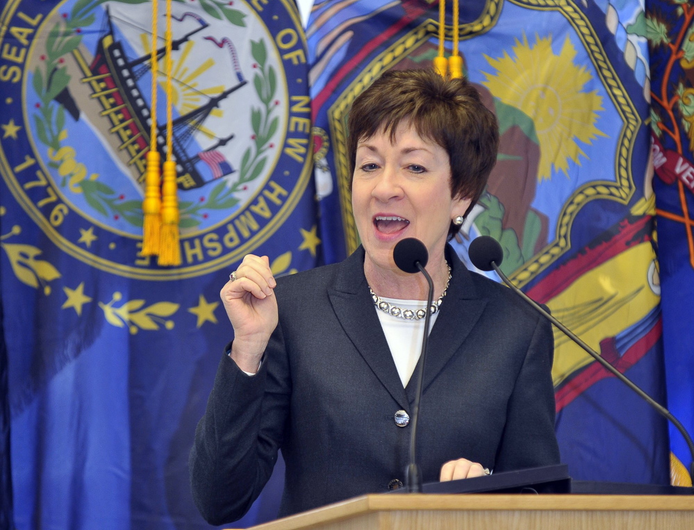 Sen. Susan Collins' campaign says she is listening to arguments from both sides of the NSA surveillance issue but that most Mainers are concerned about other topics.