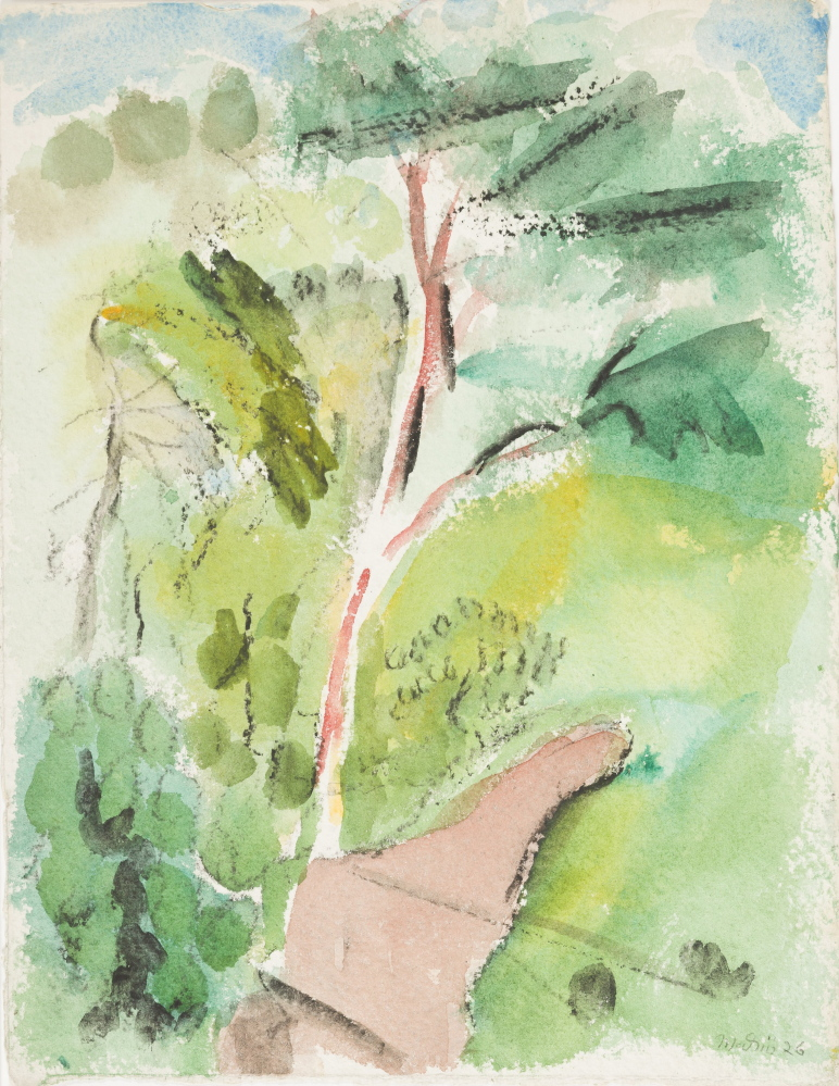 """Marin's 1926 watercolor """"Tree, Stonington, Deer Isle,"""" part of a gift to an art museum in Arkansas."""