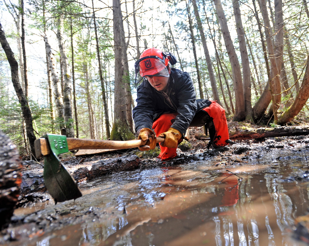 Unity's wet and muddy conditions ideal for Trail Day - CentralMaine com