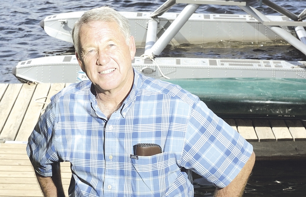 Bill McKay of Oakland, in a 2006 file photo with a float plane. McKay was killed when his plane crashed in Lake St. Pierre in northern Quebec Tuesday while on a fishing trip with his daughter and son-in-law who survived.