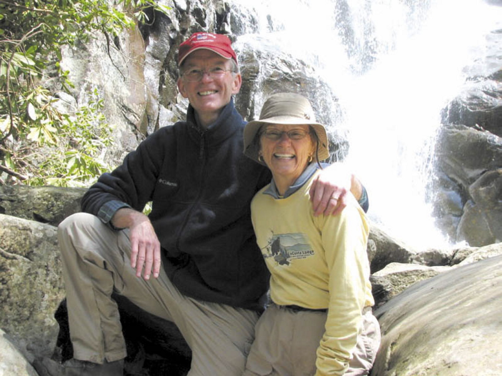 George Largay and his wife, Geraldine, in a photograph from Geraldine Largay's Facebook profile. Largay has been missing since July 2013 from the Appalachian Trail between Route 4 near Rangeley and Route 27 in Wyman Township. The reward for information was increased to $25,000 Wednesday.