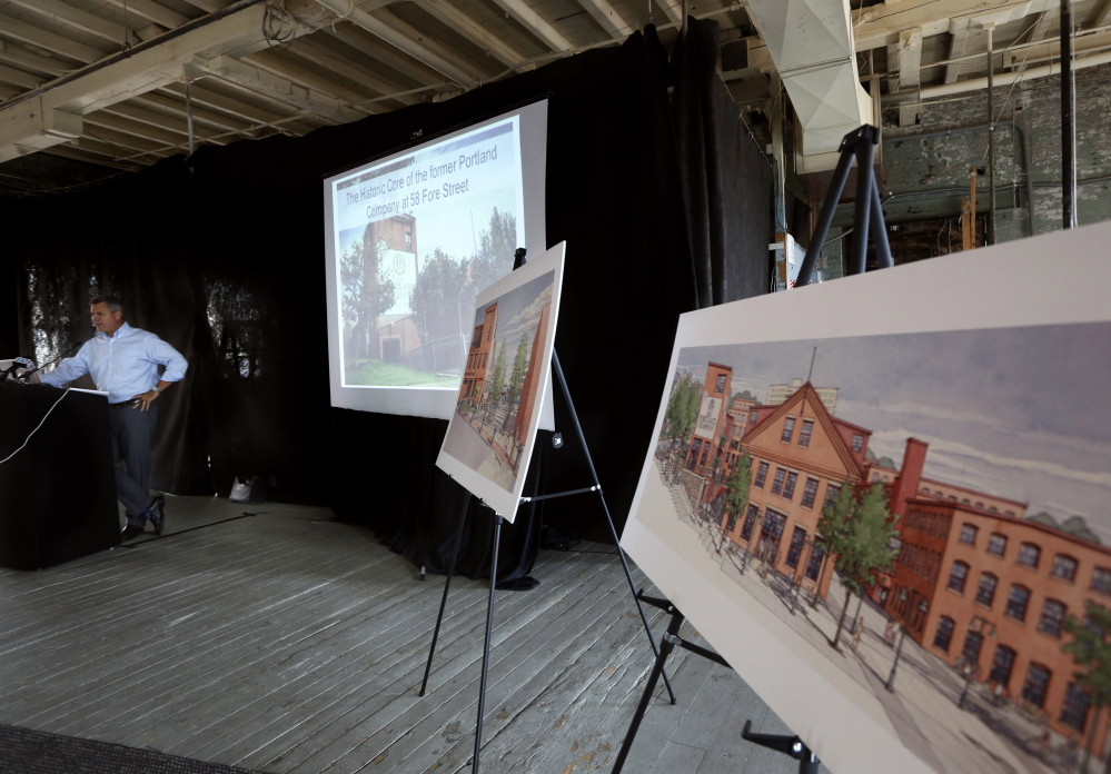 At a news conference Wednesday, complex developer Jim Brady noted the public access to the waterfront envisioned in the latest drawings.