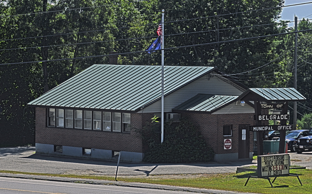 The Belgrade Town Office on Route 27 will be replaced by a new office now that voters have approved spending up to $1.2 million on a 5,000-square-foot building and related improvements in the town's former gravel pit off Route 27.