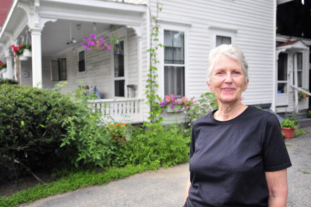 Shelia Stratton talks about the historic Augusta home she lives in with husband Don Stratton in this July file photo in Augusta.
