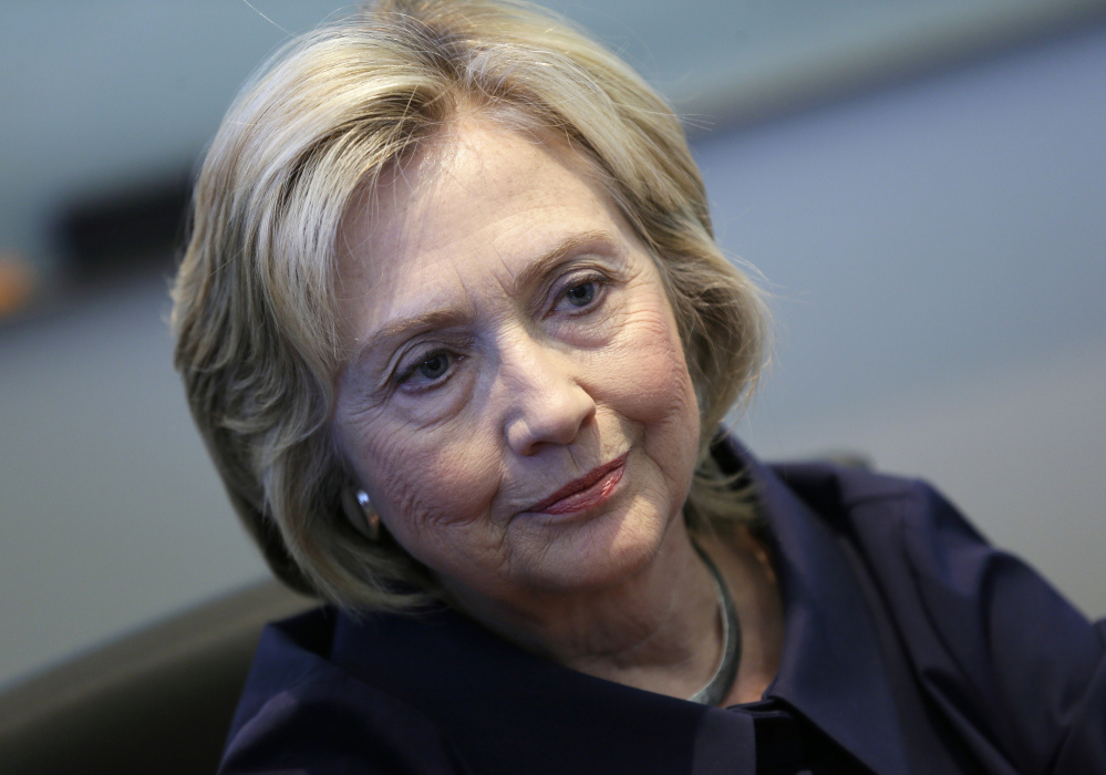 "Hillary Clinton speaks in an interview with The Associated Press on Monday in Cedar Rapids, Iowa. She said in the interview that she didn't need to apologize for using private email as secretary of state because it was ""allowed."" On Tuesday, Clinton offered an apology in an interview with ABC News."