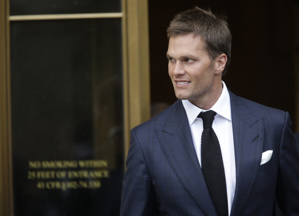 "Tom Brady leaves federal court last week after a full day of talks with a federal judge in his dispute with the NFL over his four-game suspension. While the league investigation found it was ""more probable than not"" that two Patriots ball handling employees deliberately released air from Patriots game balls at January's 45-7 New England victory over the Indianapolis Colts, it cited no direct evidence that Brady knew about or authorized it."