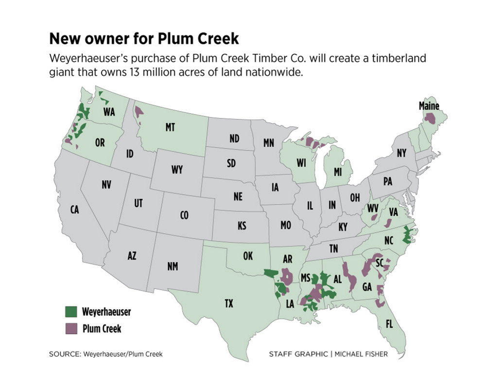 For now, few changes in Maine as major timberland owner Plum Creek