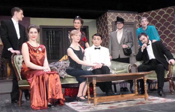 """The cast of """"The Game's Afoot,"""" Waterville Senior High School's entry in the 2016 Maine Drama Festival. Waterville, Lawrence High School, Winslow High School and Maine Central Institute have advanced, along with 16 other high schools, have won regional competitions over the weekend and will compete in the state finals March 18 and 19."""