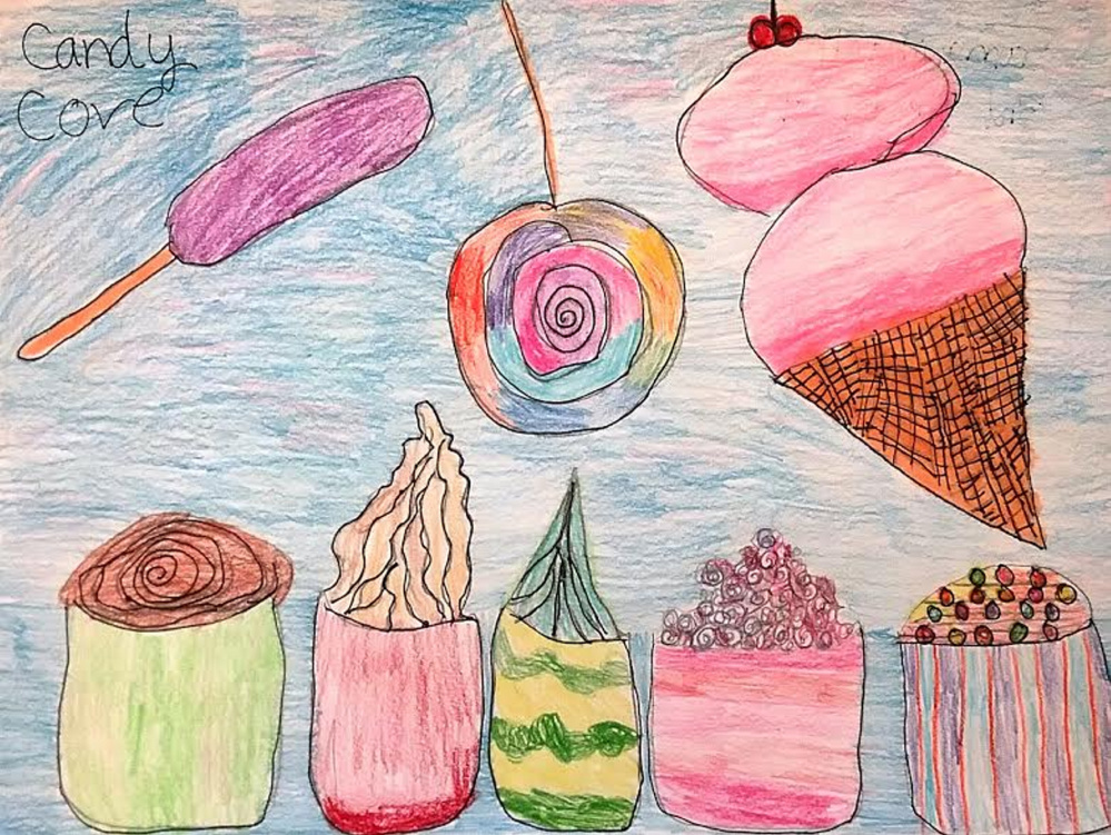 """Candy Cove"" by Sam, third-grade student at Hall-Dale Elementary School."