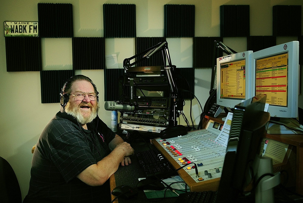 Central Maine radio personality Don Brown, seen here in 2011, died Thursday at age 77.