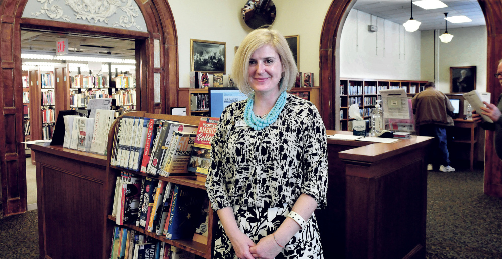 """Sarah Sugden, director of the Waterville Public Library, said the city library being named a finalist for the 2017 National Medal of Museum and Library Service award is """"a call for tremendous celebration"""" and """"a call for action."""""""