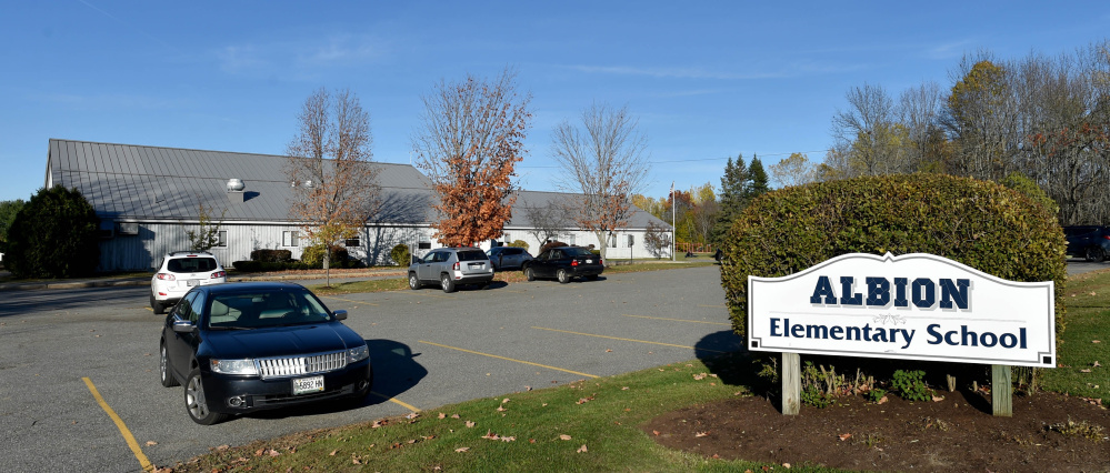 Albion Elementary School, seen Nov. 1, 2016, is among three schools that the School Administrative District 49 board of directors and district administration have submitted state applications to replace. The district says it makes the most sense to consolidate students from Albion, Clinton and Fairfield into one new school in the face of declining enrollment.