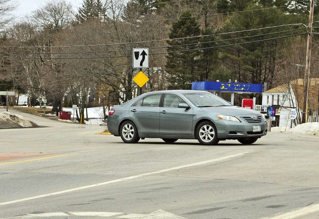 A car turns left Wednesday from the eastbound lane of Route 17 onto Route 32 in Windsor.
